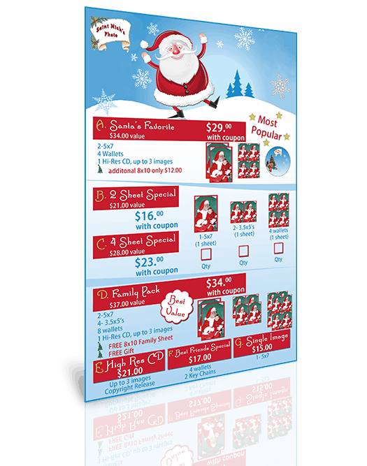 Santa Price List