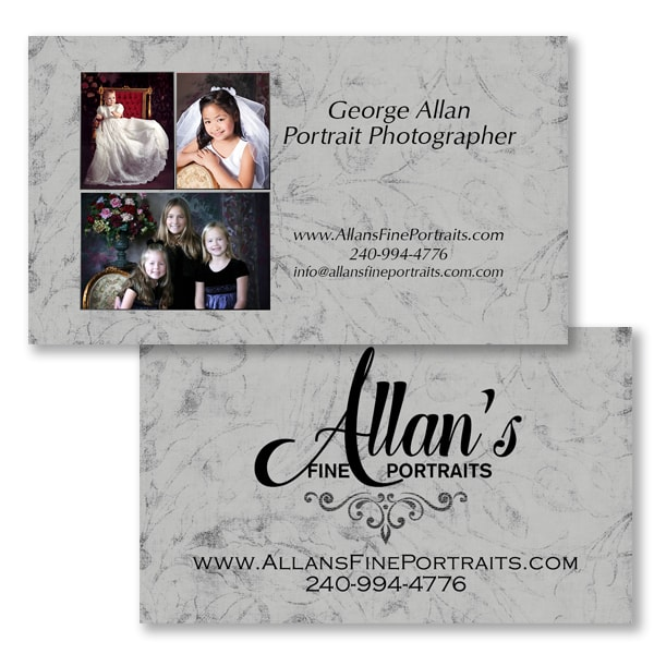 Allan's Fine Portraits Business card