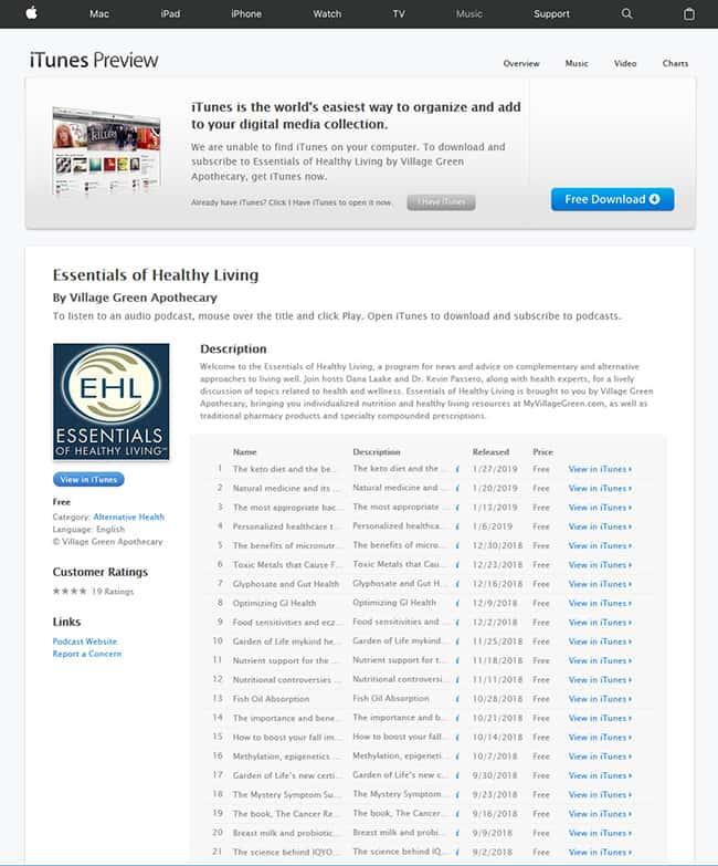 Essentials of Healthy Living Radio Show - Peace Tree Design